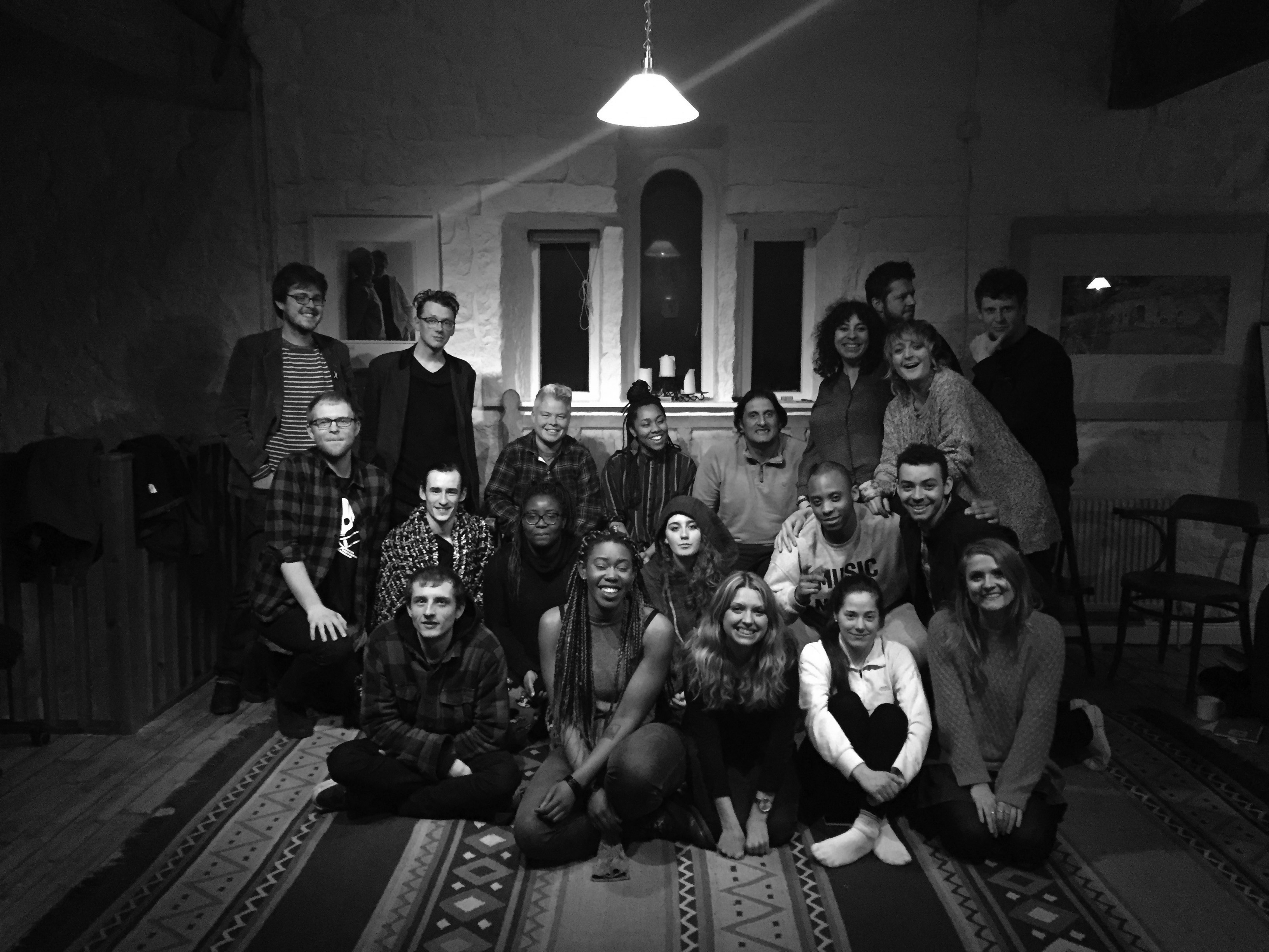 A group of writers at the Arvon Retreat