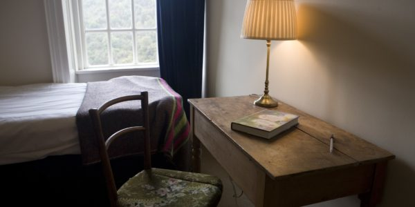 Book table and lamp