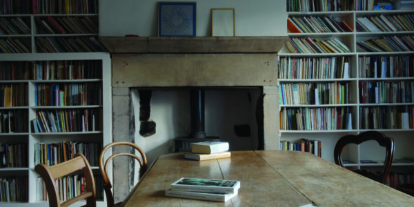 Lumb Bank Writing Course Table in Library