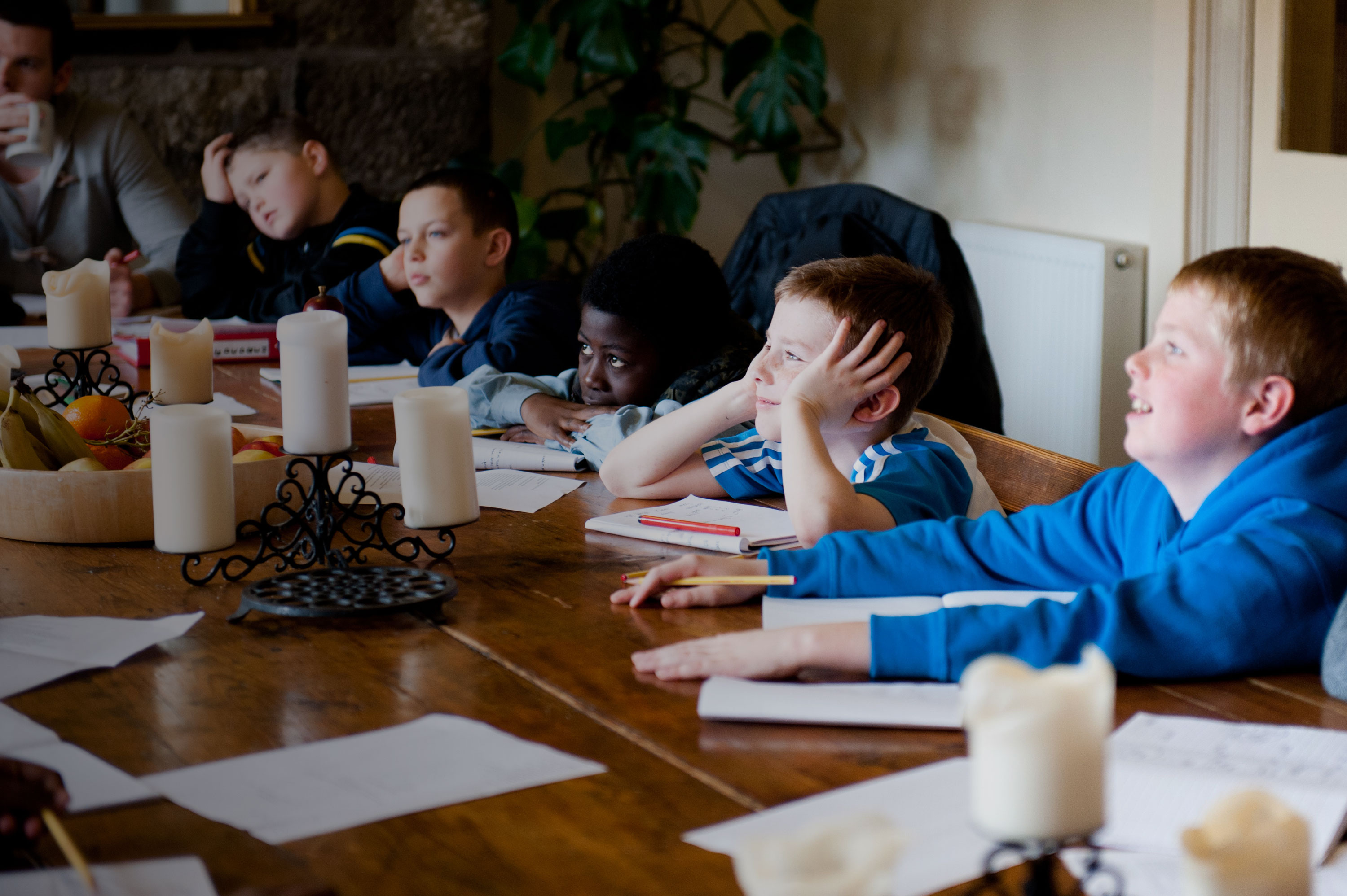 Schools group on an Arvon writing course UK