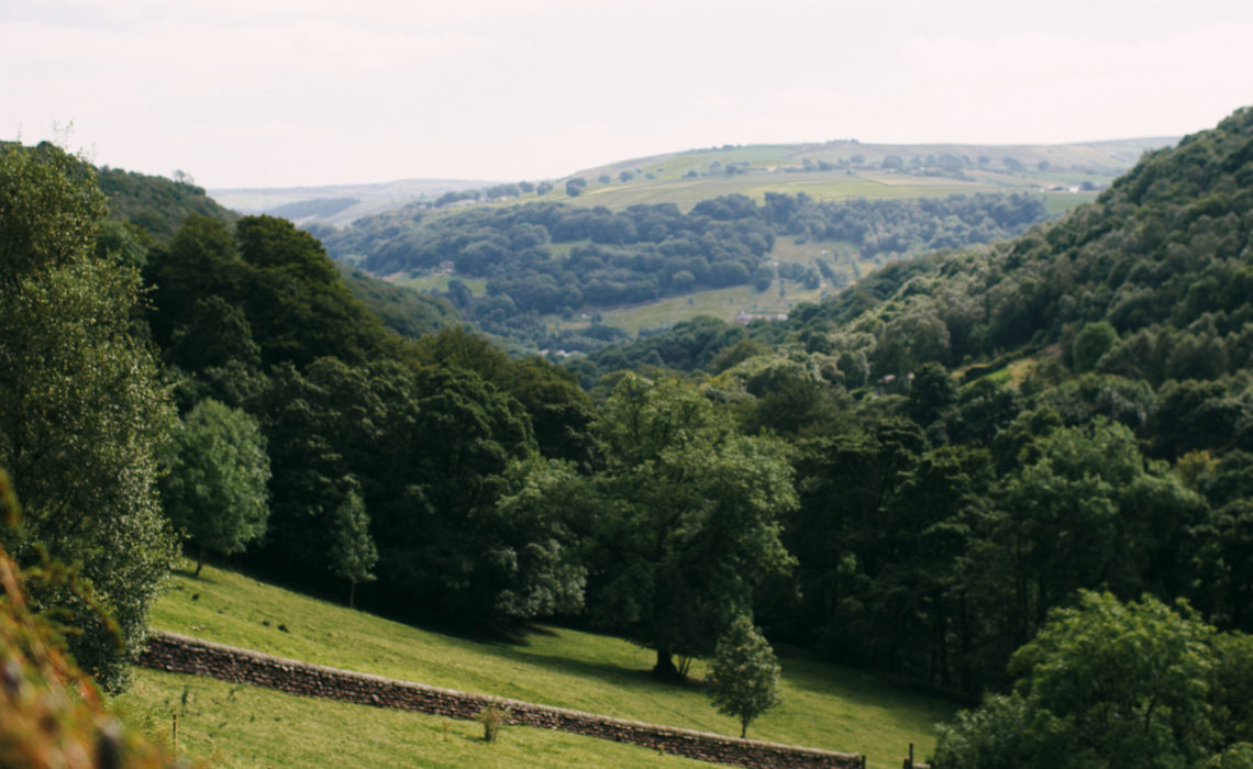 View of the valley from Lumb Bank, Arvon's writing centre